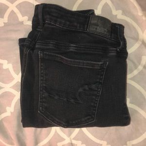Black Ripped American Eagle Jeans